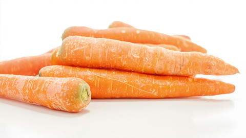 Raw Carrots stock footage