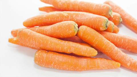 Raw Carrots Stock Video Footage