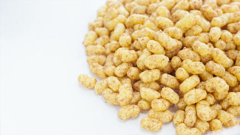 Peanut Puffs stock footage