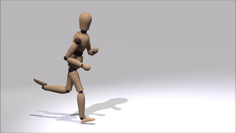 Running Mannequin Animation