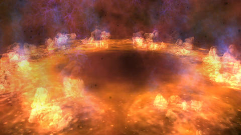 Fire Ring stock footage