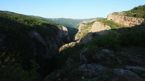 Timelapse sunrise in the mountains. Crimea, Russia Footage