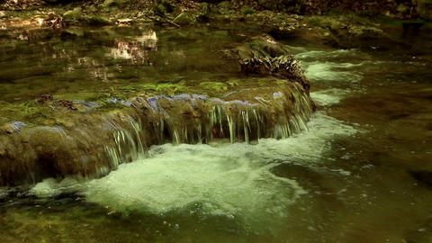 Waterfall, mountain stream. Black River. Crimea, R Footage