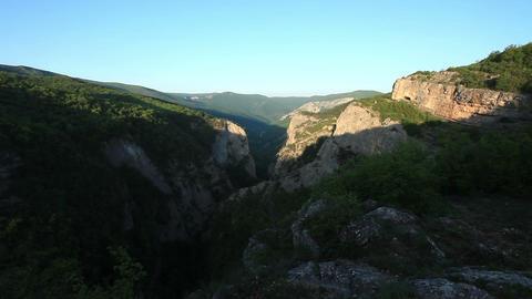 sunrise in the mountains. Crimea, Russia Stock Video Footage