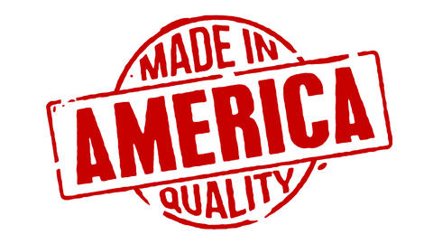 Red Rubber Stamp Made In America Animation