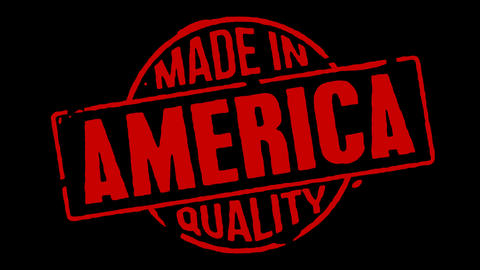 Red Rubber Stamp Made In America Stock Video Footage