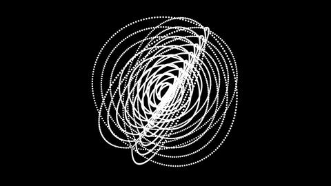 4K Circle ring dot particle design,Abstract fractal point... Stock Video Footage