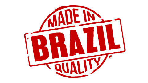 Red Rubber Stamp Made In Brazil Animation