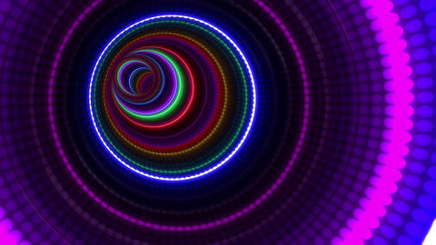 Tunnel Neon Tube BL 1b 4k Animation