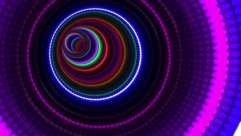 Tunnel Neon Tube BL 1b 4k CG動画