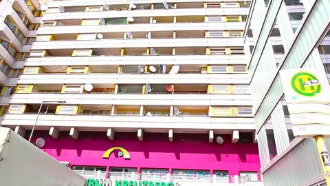 pan view of the Zentrum Kreuzberg Footage