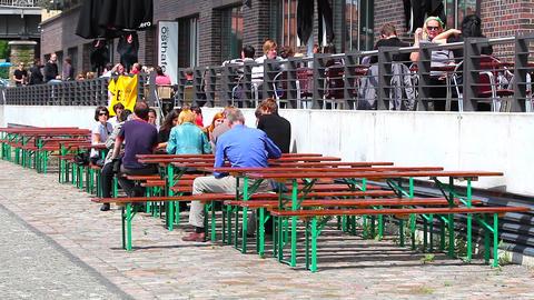 restaurant visitors Footage