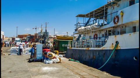 industrial harbor Footage