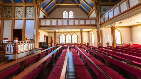 church in Husavik, Iceland Stock Video Footage