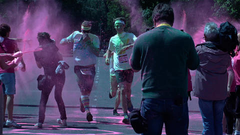 The Color Run In Berlin stock footage
