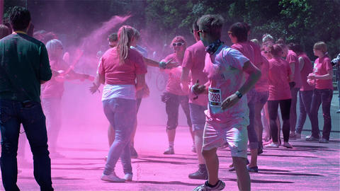 The Color Run in Berlin Stock Video Footage