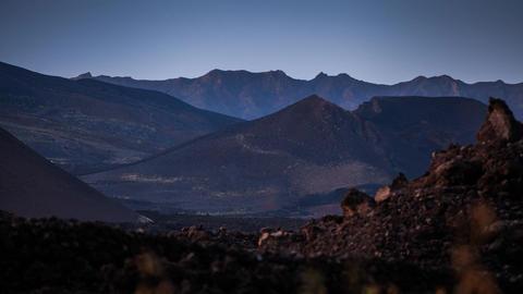 volcanic landscape on Fogo Stock Video Footage