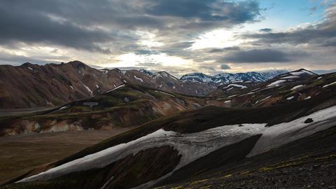 Landmannalaugar in Iceland Footage