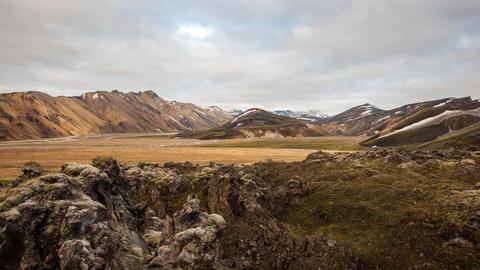 Landmannalaugar in Iceland Stock Video Footage