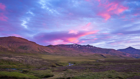 sunset at Snaefellsness in Iceland Footage