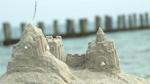 sandcastle Stock Video Footage