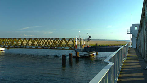 bascule bridge Stock Video Footage