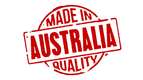 Red Rubber Stamp Made In Australia Animation