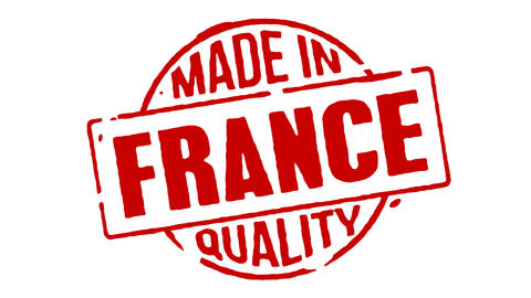 Red Rubber Stamp Made In France Animation