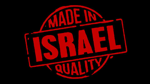 Red Rubber Stamp Made In Israel Stock Video Footage