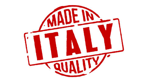 Red Rubber Stamp Made In Italy stock footage