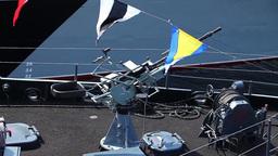 warship ship gun Stock Video Footage