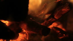 Burning Wood Glowing In Fire 25fps stock footage