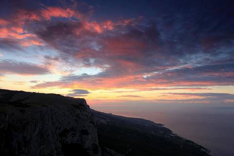 4K. Timelapse sunrise in the mountains Merdven-Kay Stock Video Footage