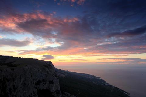 4K. Timelapse sunrise in the mountains Merdven-Kay Footage