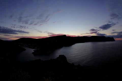 4K. Timelapse sunrise in the mountains. Balaklava, Footage