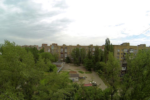 4K. Clouds over the city. diurnal motion, Makeevka Stock Video Footage