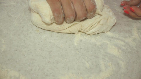 Woman rolling dough Stock Video Footage