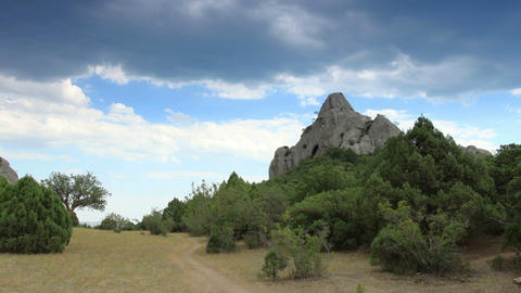 Cloudy sky over the mountains Karaul Oba. Noviy Sv Footage