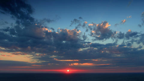 Timelapse sunset in the mountains. Cape Fiolent, C Stock Video Footage