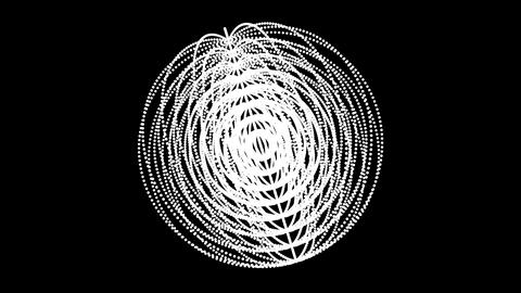 Circle ring dot particle design,Abstract fractal point... Stock Video Footage