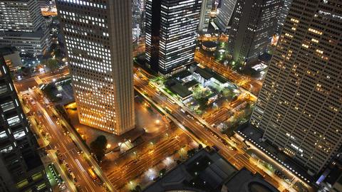 timelapse of Shinjuku ward inTokyo Footage