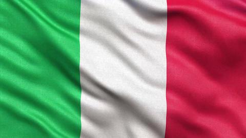 4K Flag of Italy seamless loop Stock Video Footage