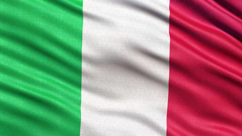 4K Flag of Italy seamless loop Animation