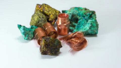 Copper Minerals Finished Product Dolly In Live Action