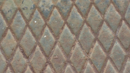 Rusty Diamond Metal Background 25fps stock footage