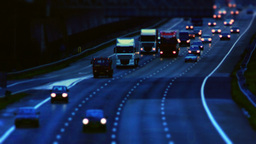 Driving Commuters Morning Freeway 29,97fps stock footage