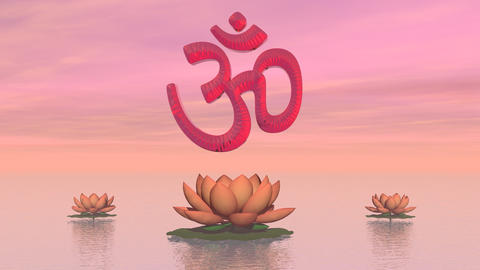 Zen Aum - 3D Render stock footage