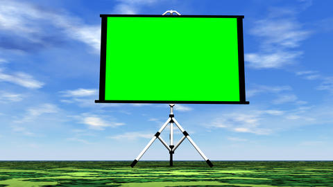 Green screen in nature - 3D render Stock Video Footage