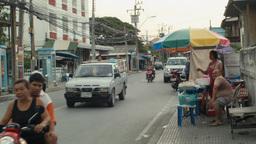 Street Scene in Suburban Bangkok, Thailand Footage
