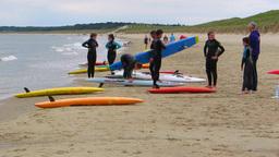 Surfing School stock footage